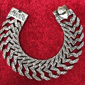 Stephen Webster Men's textured Sterling Silver Bra